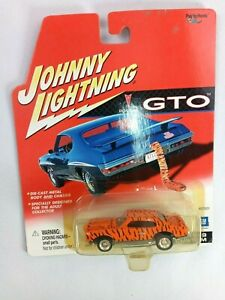 GTO - 1969 Pontiac GTO Custom-Orange/Black - 1:64 Johnny Lightning