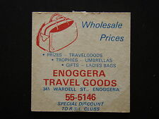 ENOGGERA TRAVEL GOODS 341 WARDELL ST 555146 COORPAROO RSL SERVICES CLUB COASTER