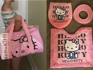 Hello Kitty Toilet Seat Cover Lid Bathroom Rug Mat Shoulder Travel Gym Hand Bag