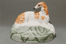 Borzoi (Russian wolfhound) ceramic trinket dish. Great gift for dog lovers.