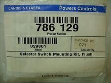 SIEMENS ~ Landis & Staefa ~ Powers Controls Selector Switch Flush Mount Kit