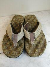 Skechers Comfort Footbed Brown Man Made Flip Flop Sandal Men's Shoes Size 11-12