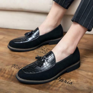 Mens Pointy Toe Tassels Oxfords Work Dress Formal Business Leisure Shoes 38-47 L