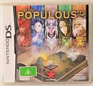 POPULOUS DS NINTENDO Case - sleeve - book - card included Used