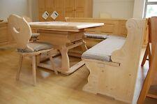 Landhaus Eckbankgruppe Landau 195x195cm mit Jogltisch & 2 Stühle Fichte massiv