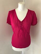 EAST Ladies Bright Pink Short Sleeve Blouse Size 10