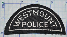 CANADA, WESTMOUNT POLICE DEPT WOVEN VINTAGE PATCH