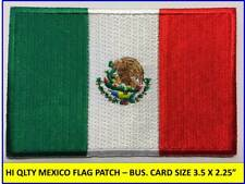 Mexican Flag Patch Iron-On Sew-On Embroidered Mexico Emblem (3½ x 2¼�)- Hi Qlty!