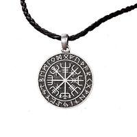 Vegvisir Bussola norrena Collana pendente Vichinghi Amuleti Rune