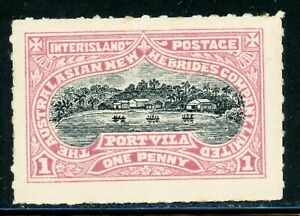Australasian New Hebrides Company Limited Interisland Postage PORT VILA 1p $$$