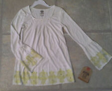 (NWT) Route 66 Girl's Size Medium (7-8) Cream Top With Gold Tim Retails @$14.99