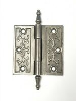 "A27 Antique Cast Iron Ornate Steeple Top Hinge (SINGLE) 4"" x 4"""