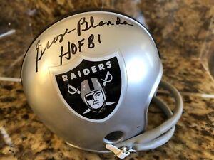 George Blanda Oakland Raiders Signed Mini Helmet HOF '81