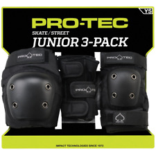 Pro-Tec Street 3-Pack Elbow, Knee, and Wrist Pad Combo - Black Youth Small