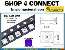 20 LED SMD VIOLETA UV PURPLE  3528 / 1210 SMT CAR automocion ARDUINO 3.5 x 2.8