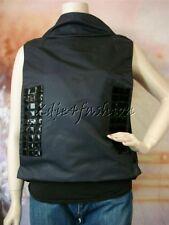 $2430 New MARNI Black Sleeveless Wrap Style Beaded Tiled Nylon Jacket Top 2 36