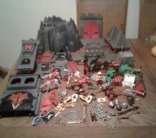 Vintage PLAYMOBIL Large Lot Of Castles, Horses, Wagon, Weapons, Helmets & More!!