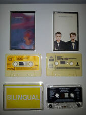 "PET SHOP BOYS ""ACTUALLY + BILINGUAL + DISCO"" LOT OF 3 CASSETTES FROM SPAIN & UK"