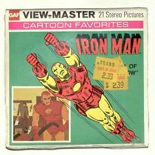 SEALED 1977 vintage GAF view master IRON MAN THE SPELL OF BLACK WIDOW reel set !