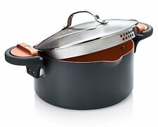 Gotham Steel Pasta Pot with Patented Built in Strainer with Twist N' Lock