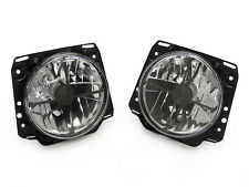 "Ecode Crosshair Crystal Clear 7"" Round Glass Headlight For 85-92 VW Golf Mk2 II"