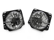 "85-92 VW Golf Mk2 Mk.II ECode Crosshair Crystal Clear 7"" Round Glass Headlight"