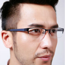 Men Women Half Rimless Metal Glasses Frame Optical Eyeglasses Spectacles Eyewear