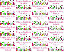 Personalised Gift Wrapping Paper THANK YOU Design