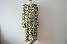 Geblümte knielange Langarm Damenkleider für die Freizeit