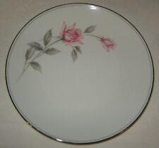Noritake Rosemarie Five Salad Plates, Pink Roses with Platinum Trim