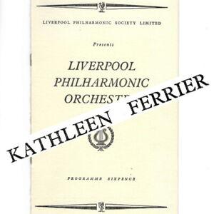 1949 Kathleen Ferrier concert programme Liverpool Philharmonic Hall