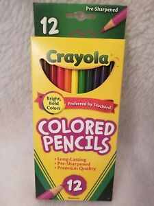 Crayola NEW 12 Pack Pre-Sharpened Colored Pencil