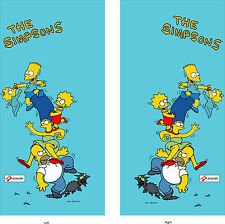 The Simpsons arcade side art set