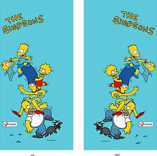 The Simpsons arcade side art set