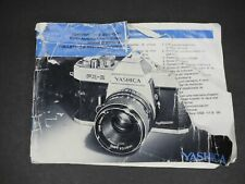 Yashica Fx-2 Slr Camera Instruction Book / Manual / User Guide