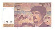 Billets de la banque française sur Debussy