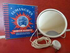 Ancien miroir barbier LUMINOREX complet boite origine TBE hipster vintage 1950