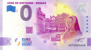 35 RENNES Anne de Bretagne, 2020, Anniversaire, Billet Euro Souvenir