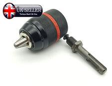 13mm HSS Keyless Drill Chuck Bit Converter SDS Adaptor WITH SHAFT