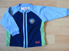 ♡ Sigikid Sweatjacke Little Pirate ♡ Gr. 68 mit süßen Piraten blau-grün