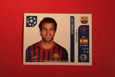 PANINI CHAMPIONS LEAGUE 2011/12 N 492 FABREGAS BARCELONA WITH BLACK BACK MINT!!