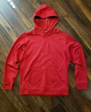 Mens Nike Therma Fit Hooded Athletic Hoodie Size Medium M Red Polyester