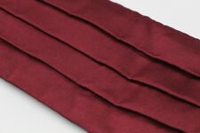 Drakes London Mens Silk Cummerbund Burgundy Pleated S (32-36) Formal Tuxedo Wine