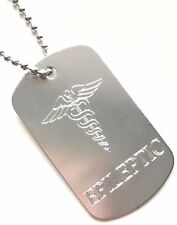 Epileptic SOS Medical Alert ID Silver Tag + Steel Chain (P7)
