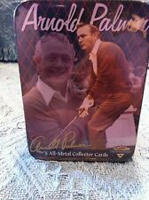 NOS ARNOLD PALMER EMBOSSED 5 ALL-METAL COLLECTOR CARDS