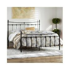 Queen Size Bed Frame Metal Headboard Footboard Rustic Vintage Antique Victorian