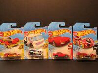 Hot Wheels Lot of 4. Carbonator,Chill Mill,89 Porsche 944 Turbo, Power Rocket A5