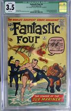 FANTASTIC FOUR # 4 - CGC QUALIFIED 3.5 - 1st Silver Age app of the Sub-Mariner.