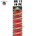 10 PC LR44 AG13 A76 L1154 357 SR44W 1.5V Alkaline Button Cell Battery EXP 2024