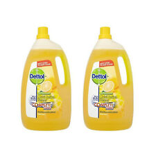 2 X Dettol Antibacterial Multi Action Cleaner Floor Citrus Zest 4L